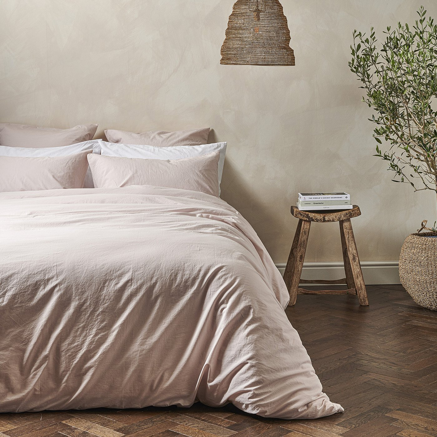 washed cotton bedding