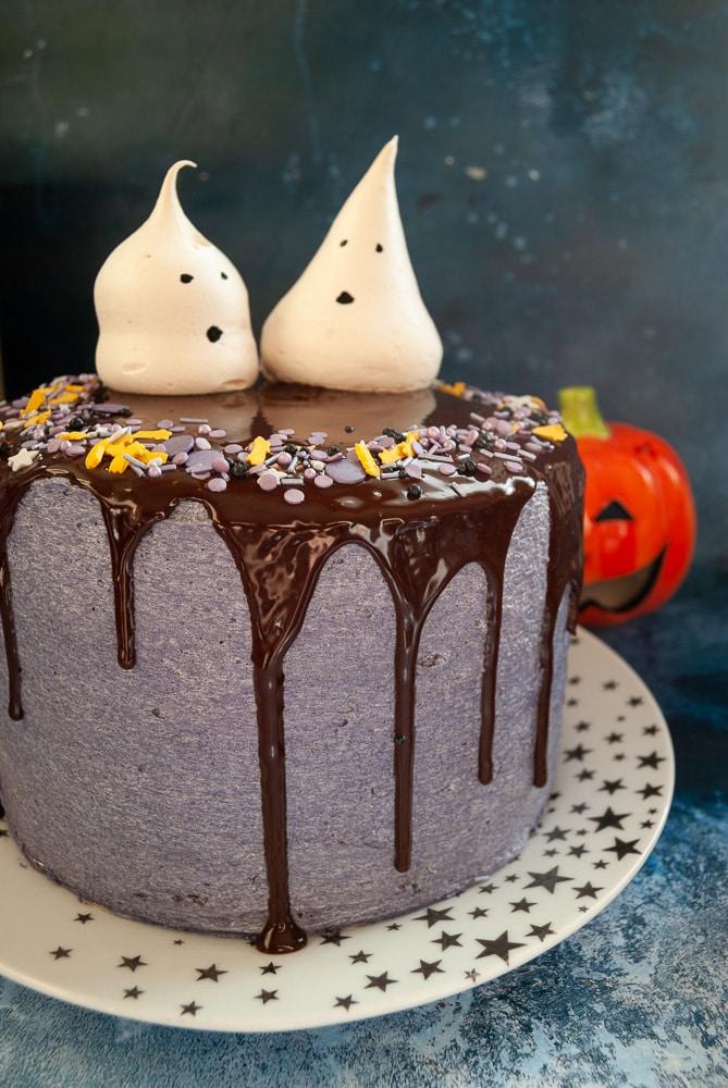 Halloween Chocolate Drip Cake