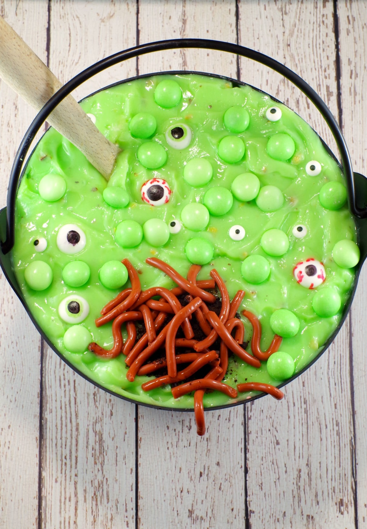 halloween green trifle